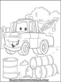 Cars Color Page 4 Coloring Pages
