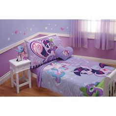 My little pony bedroom Little Girl Bedrooms, Girls Bedroom, Bedroom Ideas, My Little Pony Bedding, Cumple My Little Pony, Daughters Room, Kids Corner, Girl Room, Bedding Sets