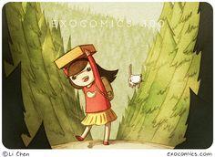 Adorable character design, warm colors, cartoon look