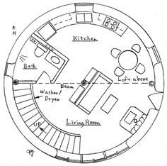 roundhouse floor plans. For that silo tourette I plan on attaching to the log cabin I may someday own...