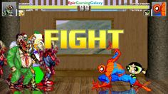 Spider-Man & Buttercup The Powerpuff Girl VS Zombies & Krusty The Clown In A MUGEN Match / Battle This video showcases Gameplay of Spider-Man The Superhero And Buttercup The Powerpuff Girl From The Powerpuff Girls Series VS Zombies And Krusty The Clown From The Simpsons Series In A MUGEN Match / Battle / Fight