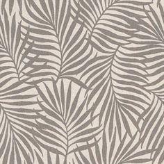 Italian III - Albany Wallpapers - A heavy weight vinyl with a fabric weave texture and a palm leaf all-over pattern. Available in 4 colours shown in the dark chocolate brown on stone grey. Please request sample for true colour match. Albany Wallpaper, Palm Wallpaper, Textile Patterns, Textile Prints, Print Patterns, Motif Floral, Floral Prints, Design Exterior, 3d Max