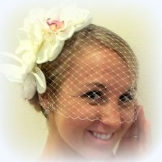 Large Flower Vintage Style headband Orchids and by kathyjohnson3, $54.00