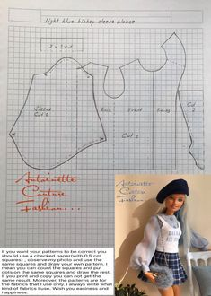 Fashion Dolls Couture - Unlimited: Light Blue Bishop Sleeve Blouse -Made to Move Barbie - Source by elodiemeneyrol clothes fashion Barbie Style, Barbie Kleidungsmuster, Barbie Mode, Barbie Dress, Sewing Barbie Clothes, Barbie Sewing Patterns, Doll Dress Patterns, Clothing Patterns, Diy Clothes