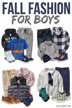 Great fall outfit ideas for boys and toddlers from @OldNavy, perfect for playing and moving around! #OldNavyStyle #ad
