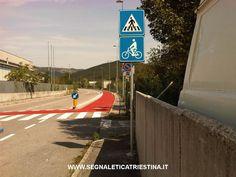 realizzazione pista ciclabile Muggia (Trieste) - segnaletica orizzontale e verticale