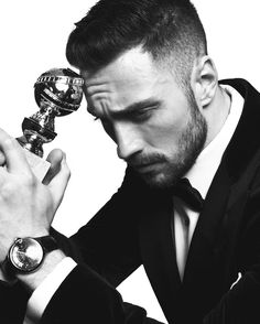 """goldenglobesBest Supporting Actor in a Motion Picture, Aaron Taylor-Johnson (@aarontaylorjohnson) for """"Nocturnal Animals"""". Photo by @mertalas and @macpiggott."""