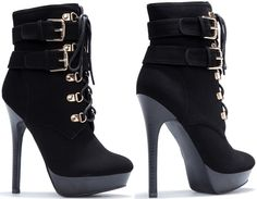 Buckled Lace-Up 'Natalia' Boots