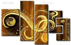 Goldene Zeichen auf Leinwand