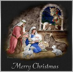 christmas manger amages to make cards - Google Search