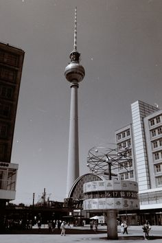 Berliner Fernsehturm and the World Clock, Germany