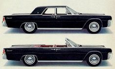 '1963 Lincoln Continental' - The car which became an icon after the shooting of JFK, but probably would have become one regardless. I think this particular pin also crystallizes another personal criteria, for me in 'Automotive Design'. The car must have 'road presence'...K