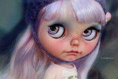 "Violet"" custom Blythe art ooak doll by Jodiedolls"