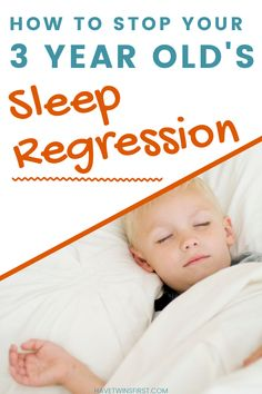 Tips for toddler sleep regression in a 3 year old. How to handle your 3 year old's sleep problems. Toddler sleep problems and what to do about them.