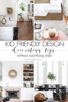 Kid Friendly Decorating Ideas with Grown Up Style - Maison de Pax Kid-friendly decorating ideas: find out how to make your home family friendly without sacrificing s Small Room Design, Family Room Design, Living Room On A Budget, Living Room Decor, Living Rooms, Living Area, All Family, Trendy Home, Freundlich