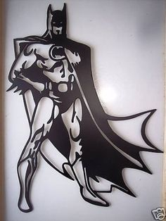 Amazon.com: Batman Superhero Standing Decorative Metal Wall Art: Furniture & Decor