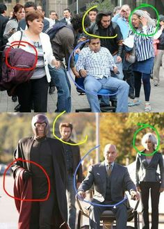 X-Men // tags: funny pictures - funny photos - funny images - funny pics - funny quotes - Marvel Jokes, Marvel Funny, Funny Comics, Funny Photos, Funny Images, Image Hilarante, Bad Cosplay, Conspiracy Theories, Xmen
