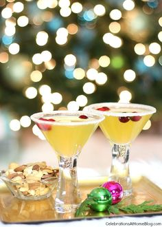 Golden Tinsel Cocktail