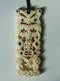 Maori Tiki Manaia pendant by savagewerx.deviantart.com on @DeviantArt