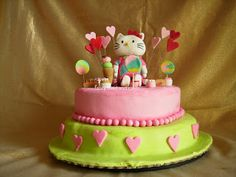 Hello Kitty candy cake  by Fancy Food and Cakes
