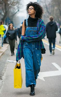 How To Wear Overalls In Winter Street Style Chic 57 Ideas For 2019 Moda Outfits, Retro Outfits, Chic Outfits, Skirt Outfits, Dungarees Outfits, Overalls Fashion, Overalls Style, American Apparel, Bohemian Style Clothing