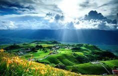 Heavenly beautiful taiwan landscape