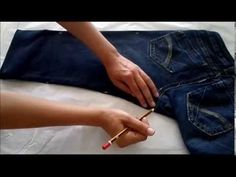 The Husqvarna Viking flat felled foot created that professional seen seam found on many ready-to-wear garments. See how two simple steps is all it takes to c. Jeans, Couture, Embroidery Patterns, Ready To Wear, Take That, Lifestyle, Sewing, How To Wear, Clothes