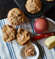 quick, easy and moist whole wheat muffin recipe -- sounds good with pumpkin butter or apple butter