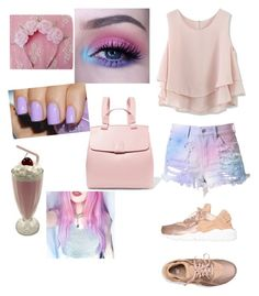 """""""Going Pastel"""" by nishmaanime ❤ liked on Polyvore featuring Chicwish, NIKE, Sugarpill, Nico Giani and pastelsweaters"""