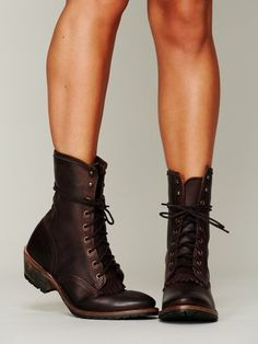 Brown Boots...these would be perfect with white shirt dress.