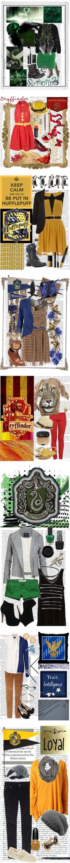 """Hogwarts House: Fashion Inspired"" by selene1arissa1 ❤ liked on Polyvore"