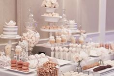 Wedding Sweet Table (Credit: Megan Wappel) << this is a cuuuute sweets table!