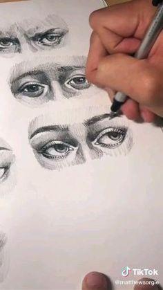 TikTok Credit: @matthewsorgie Art Drawings Sketches Simple, Pencil Art Drawings, Realistic Drawings, Indie Drawings, Skeleton Drawings, Psychedelic Drawings, Dark Drawings, Drawing Designs, Portrait Sketches