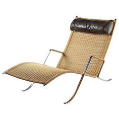 Chaise Longue Grasshopper designed by Preben Fabricius & Jorgen Kastholm