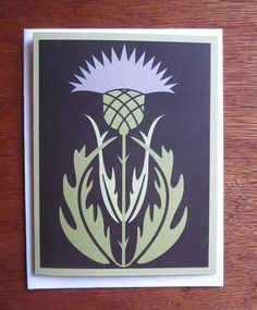 Thistle Note Card by CindyLindgren on Etsy