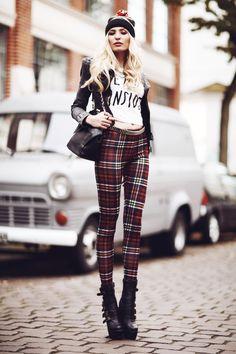 Sinstar Leggings, Sheinside Shirt, La Moda Bag, Lookbookstore Jacket, Urban Flavours Bobble Cap - DEATH INSIDE - Anila ♡ | LOOKBOOK