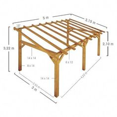 The pergola you choose will probably set the tone for your outdoor living space, so you will want to choose a pergola that matches your personal style as closely as possible. The style and design of your PerGola are based on personal Wooden Pergola, Pergola Patio, Backyard Landscaping, Rustic Pergola, Pergola Carport, Pergola With Roof, Pergola Shade, Deck Shade, Free Standing Pergola