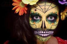 Hope Shots Photography Artist Unique Irish Model Megan M. Sugar Skull Face painting