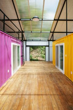 Low Cost House - container modules for a home