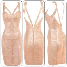 •❈• Rose gold dress