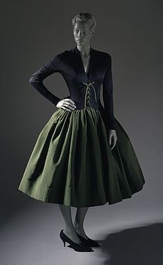 Norman Norell dress ca. 1958 via The Costume Institute of the Metropolitan Museum of Art