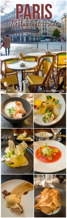 Paris Restaurant Guide - Restaurants in Paris on ASpicyPerspective.com #travel