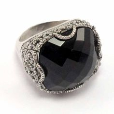 $64.90 Silver ring with onyx