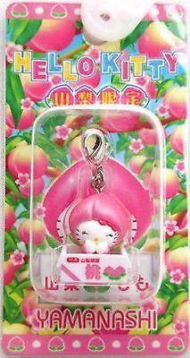 Sanrio Hello Kitty Gotochi Charm Mascot Peach MELLO key chain Cell Phone Strap M
