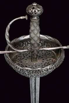 Cup-hilted Rapier  Dated: 17th century Culture: Spanish Measurements: overall length 119 cm