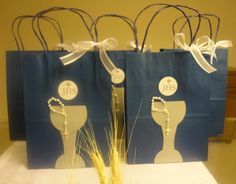 First Communion Celebration Party | First Holy Communion idea for boys - royal blue and white and silver!