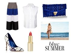 """[Blue Summer] BRYAN YANG'S PERFECT MATCHING 110"" by bryan-yang ❤ liked on Polyvore featuring mode, Emporio Armani, Le Silla, T By Alexander Wang, Venus et L'Oréal Paris"