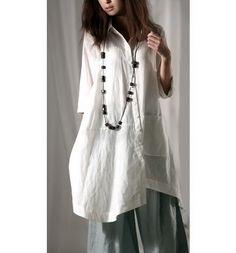 Long Hem Linen Shirt