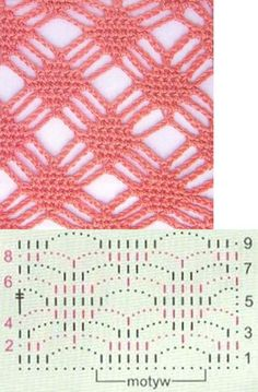 stitch Pretty Crochet Stitch - Graph only, love this trellis crochet pattern, Easy but lovely crochet stitch, This is a really nice stitchvery interesting patternI'll have to attempt using the pattern as I don't speak Russian.Wonderful pattern for a Filet Crochet, Crochet Diagram, Crochet Chart, Crochet Motif, Crochet Stitches Patterns, Knitting Stitches, Crochet Designs, Stitch Patterns, Knitting Patterns