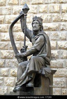 King David's sculpture on Mount Zion, Jerusalem